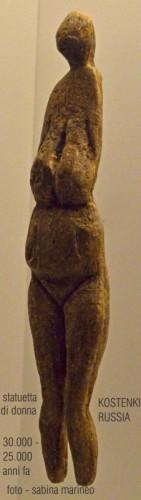statuetta di donna, Kostenki, Russia. 30.000-25.000 anni fa. foto sabina marineo