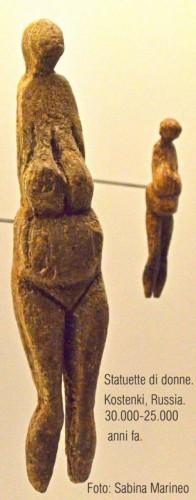 statuette di donna, Kostenki, Russia. 30.000-25.000 anni fa. foto sabina marineo