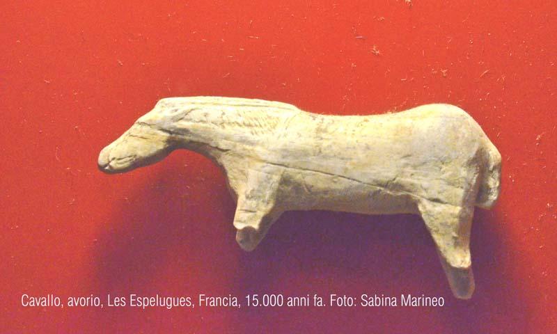 cavallo, Grotta Espelugues, Francia. 15.000 anni fa. foto - sabina marineo