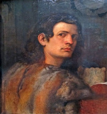 Ritratto di giovane con pelliccia, Giorgione. Così potremmo immaginare Iulio, il protagonista de La Venexiana.