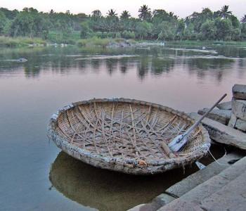 Imbarcazione rotonda dell'india meridionale. Potrebbe fungere da modello all'arca descritta nell'epos dell'Atrahasis. foto-Mauter-CC BY-SA 2.5