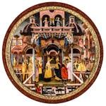 La simbolica segreta della regina dal piede d'oca. La regina di Saba incontra re Salomone.