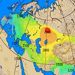 Invenzione dei primi carri da guerra nella cultura Sintasha. Su questa mappa la sua espansione. mappa di Dbachmann CC BY-SA 3.0