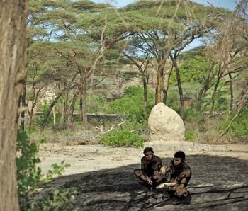 Già l'Homo erectus, circa 1 milione di anni fa, scoprì il fuoco. Foto Henry Gilbert e Kathy Schick CC BY-SA 3.0