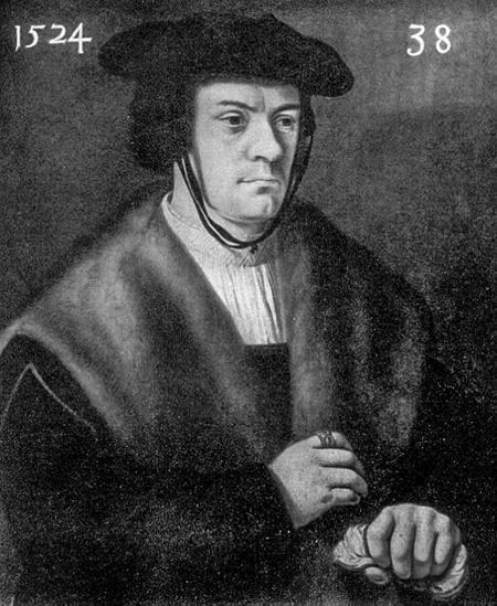 Ritratto di Heinrich Cornelius Agrippa di Nettesheim, 1524. Anonimo.