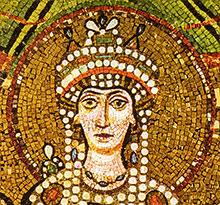 L'incredibile storia di Teodora la Basilissa. Mosaico della basilica di San Vitale, Ravenna