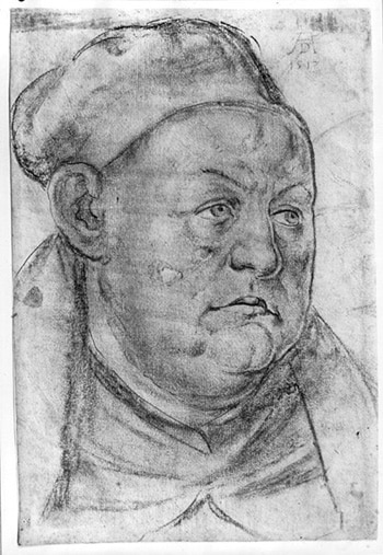 Ritratto di Tritemio di Sponheim, l'Abate Nero. Albrecht Dürer