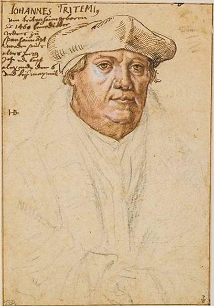 Ritratto di Tritemio di Sponheim, Museo Condé di Chantilly