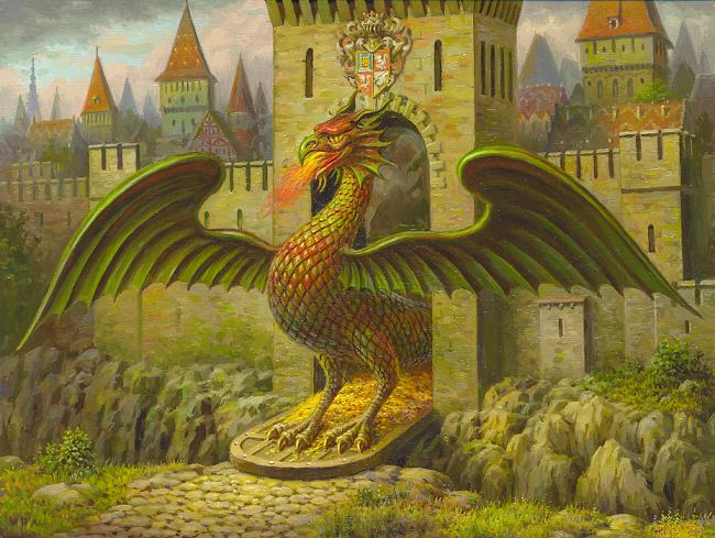 Immagine fantastica di drago. Disegno: Сергей Панасенко-Михалкин - Eigenes WerkCC BY-SA 3.0