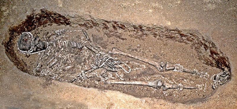 La tomba numero 1 in cui fu deposto il cacciatore ricoperto di perle. Foto: Juan Benito Alvarez