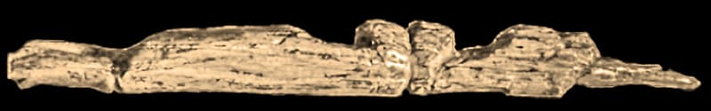 L'enigmatica figurina di Gagarino che sembra rappresentare due corpi umani distesi, testa a testa, l'uno accanto all'altro. Un uomo e una donna?