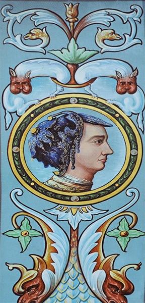 Ritratto di Jeanne des Armoises che si trova nel castello di Jaulny. È forse il volto di Giovanna d'Arco?