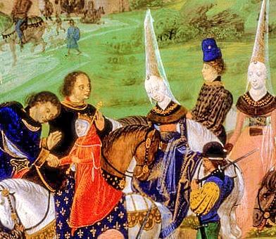 Yolanda d'Aragona con il delfino di Francia Carlo VII. Foto: Inconnu CC BY SA 3.0