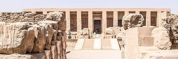 Tempio del faraone Sethos I, Abido. Foto: Sabina Marineo