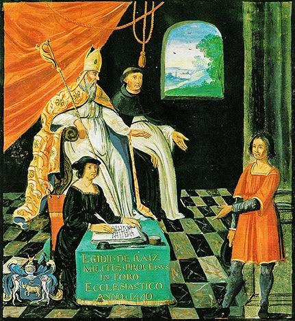 Processo a Gilles de Rais. Biblioteca Nazionale di Francia, anonimo.