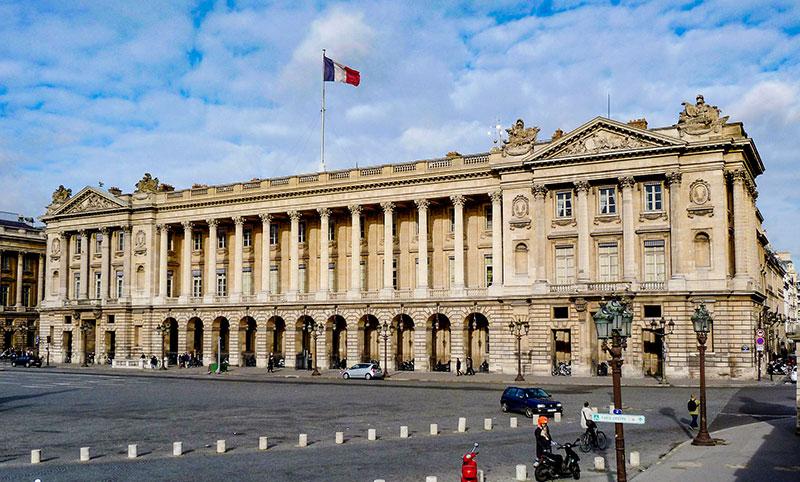 Hôtel de la Marine nella Place de la Concorde, Parigi. Foto: Siren-Com CC BY SA 3.0