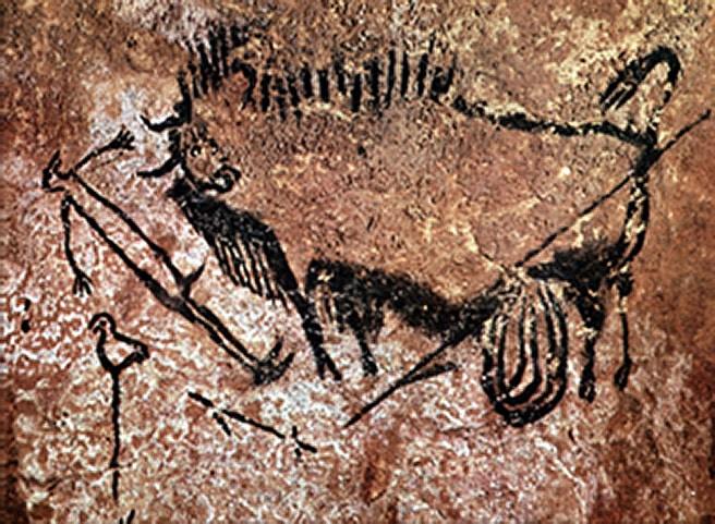 Raffigurazione di bisonte della Grotta di Lascaux. Forse una rappresentazione della