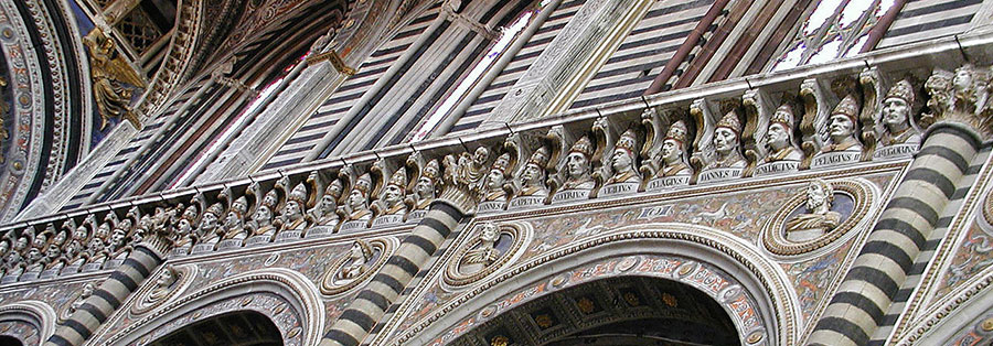 Duomo di Siena. Busti dei papi. Foto: CC BY SA 3.0
