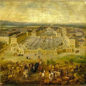 Versailles, la reggia di Re Sole nel 1722. Pierre-Denis Martin.