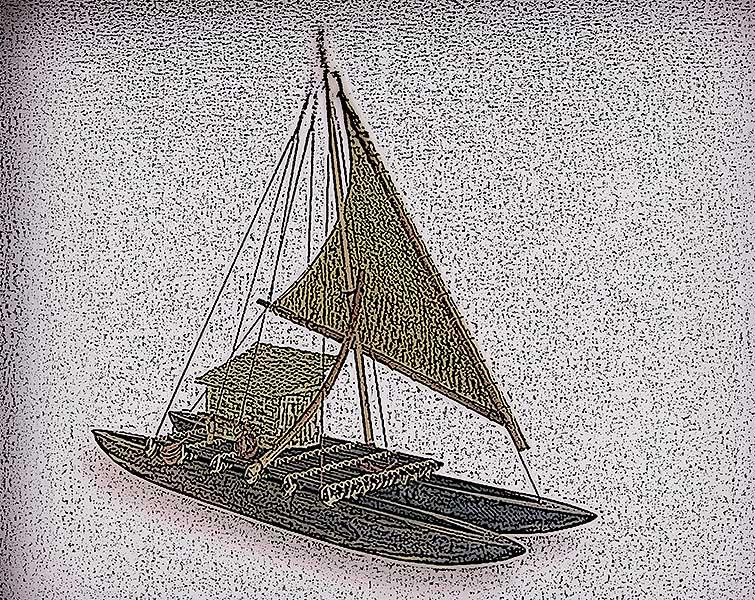 L'imbarcazione usata dai viaggiatori preistorici potrebbe essere stata simile a questo modello.