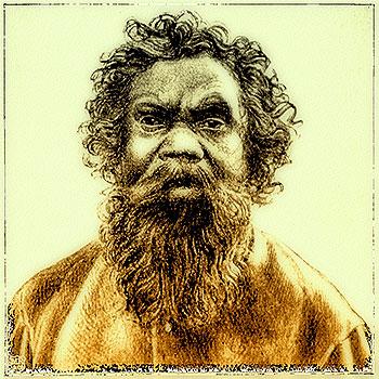 Old Tom, immagine di un aborigeno da un giornale australiano del 1897
